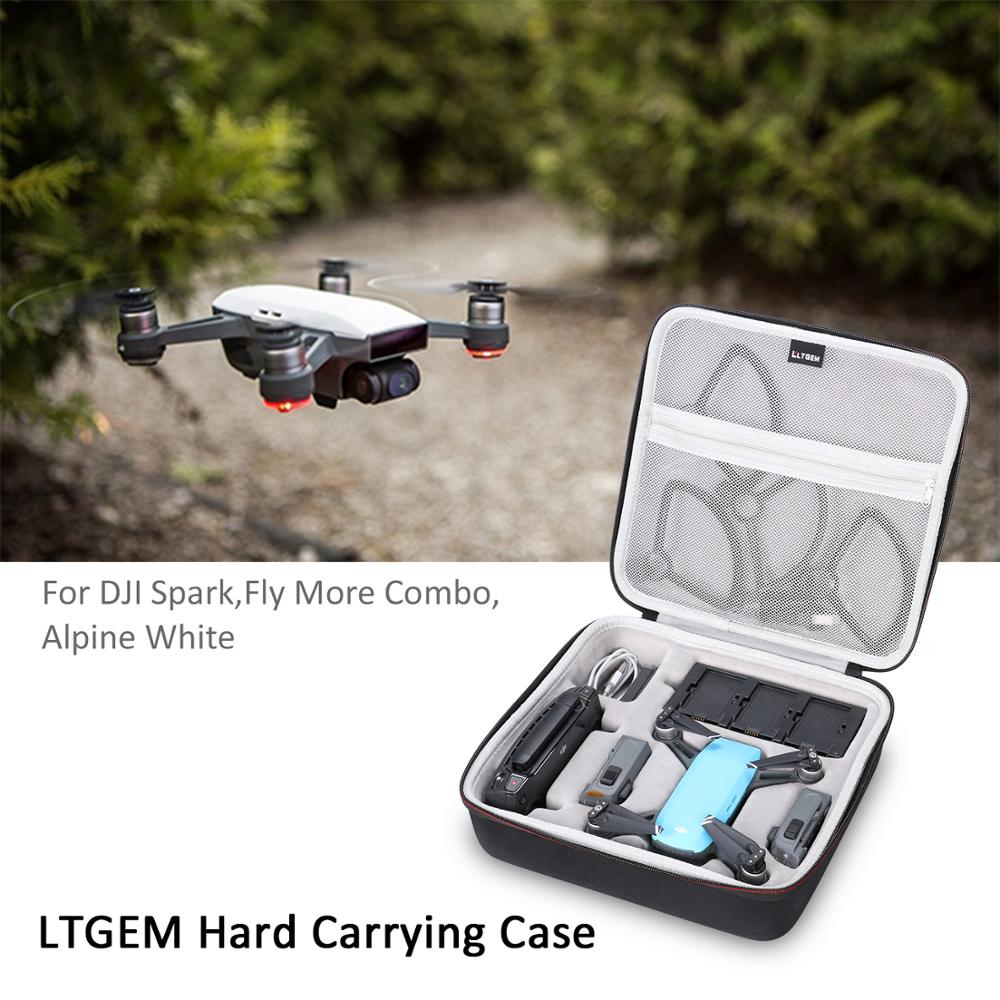 Funda LTGEM para Dron DJI Spark se adapta a 4 baterías de Dron, protector de hélice, cargador de batería, mando a distancia y otros accesorios-Bl