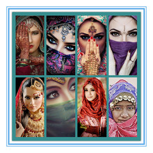 Full Square/Round Drill 5D DIY Diamond Painting Indian Beauty Women 3D Embroidery Cross Stitch Mosaic Rhinestone Home Decor 5d diy diamond painting full square drill indian women 3d embroidery cross stitch mosaic home y2240