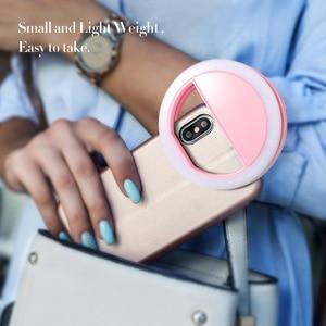 Image 4 - KISSCASE Selfie פלאש אור LED למלא מנורת נייד נייד טלפון נוריות Selfie טבעת זוהר קליפ אורות עבור iPhone smartphone