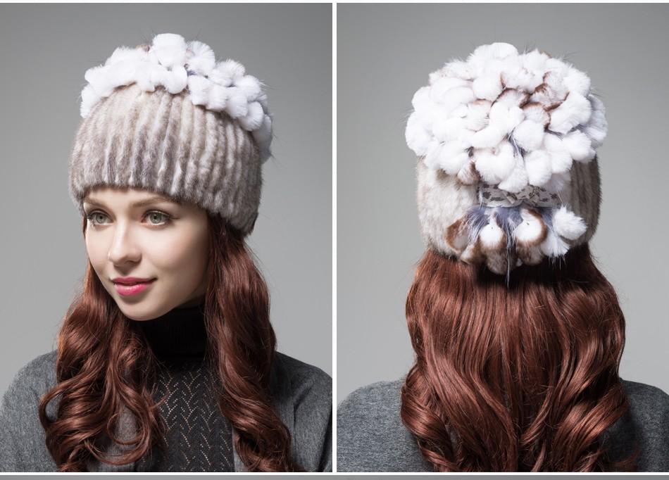 mink fur hats female winter PCM016 (16)