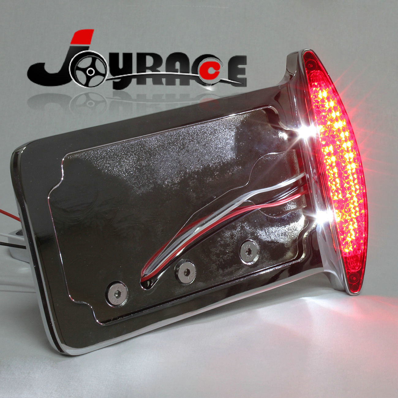 Side Mount Kennzeichen Rahmen LED Schwanz Bremse Licht Rücklicht ...