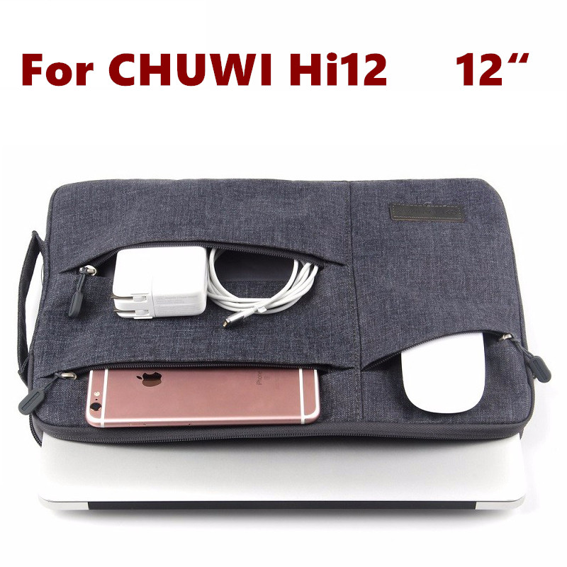 Fashion Sleeve Bag For CHUWI Hi12 Tablet Laptop Pouch Case Chuwi HI 12 CW02 Handbag Protective Skin Cover +Stylus As Gift