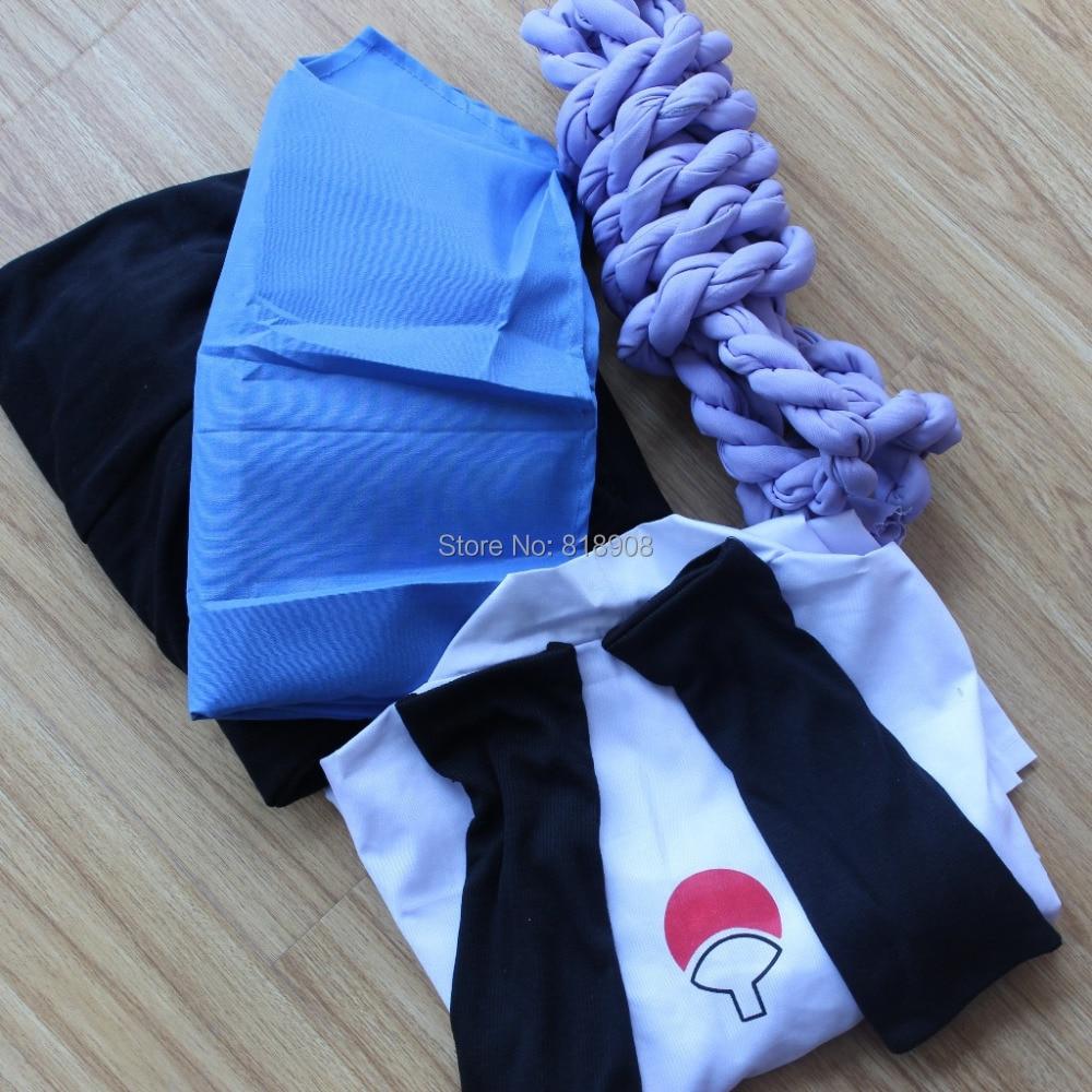 Naruto Cosplay Shippuden Sasuke Uchiha 3 սերնդի հագուստ - Կարնավալային հագուստները - Լուսանկար 4