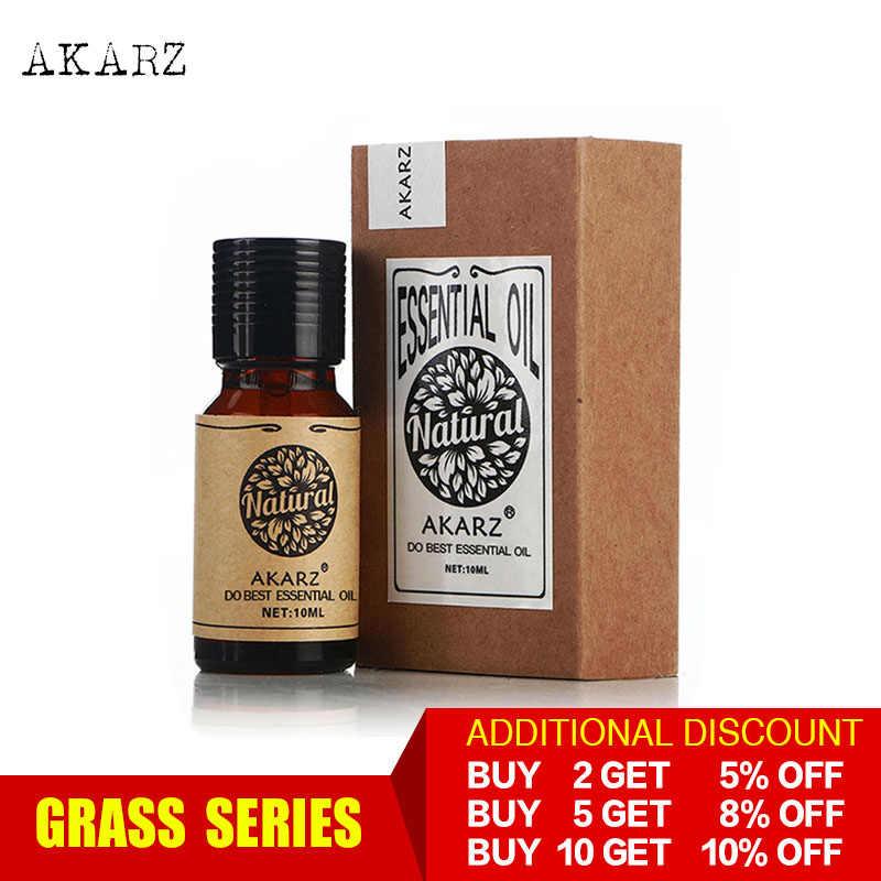 AKARZ Professional หญ้า Series TOP ขายน้ำมันหอมระเหย aromatic สำหรับ diffusers น้ำมันหอมระเหย Face Body Skin Care AROMA Oil