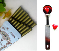 16pcs Bronze Vintage Wax Stick Round Colorful Wax Stamp Sealing Wax Sticks For Glue Gun Sealing