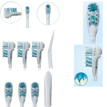 Vbatty 4pcs/pack Tooth Whitening toothbrush Head Soft Bristles Replacement for Oral B Dual Clean Complete Brush Heads 1010