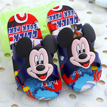 Toddler Summer Style Brand Children's Slippers 3D Cartoon Mickey Minnie Boys Girls Beach Slippers Kids Shoes Slippers