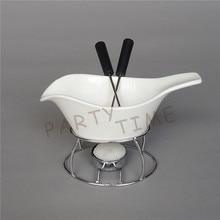Ceramic Diy Cheese Mlelting Set, Gravy Boat Bowl