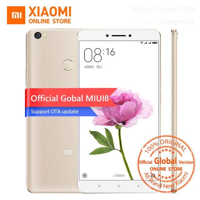 """Официальный Глобальный Версия Xiaomi Mi Макс 6.44 """"мобильный Телефон Snapdragon 650 Гекса Основные 1080 P 16MP 3 ГБ RAM 32 ГБ Отпечатков Пальцев ID MIUI8"""