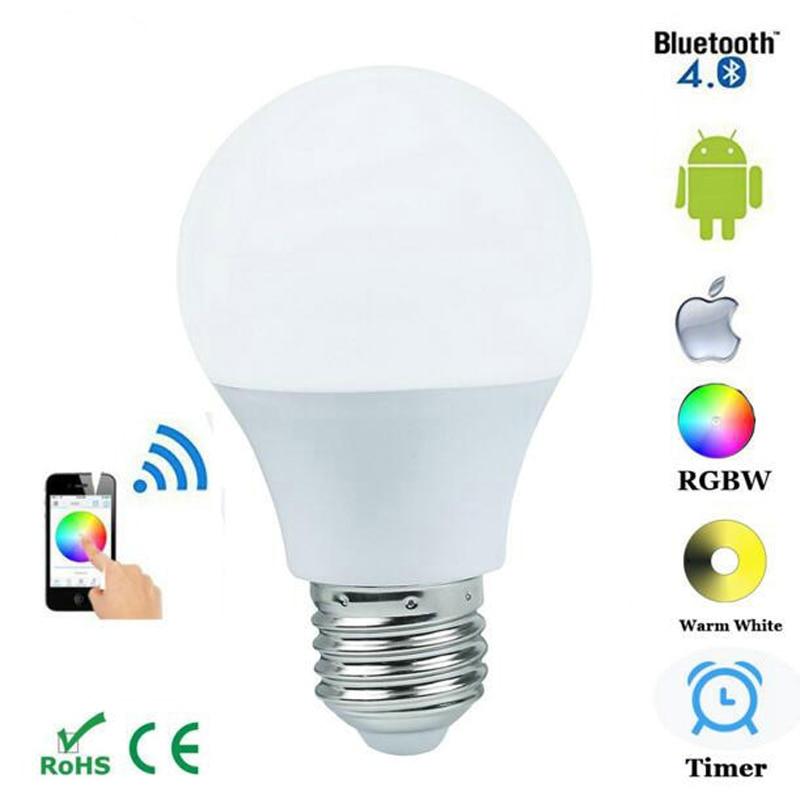 Magic blue 4.5 W Bluetooth E27 ampoule Bluetooth APP controle dimmable eclairage spotlight rvb + blanc chaud