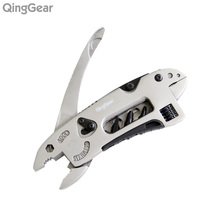 QingGear Survival Multi Pliers Knife Spanner Screwdriver Wrench With Pocket Clip