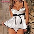 M-6xl gran tamaño de mujeres atractivas Red White Hot ropa exótica ropa de dormir Sexy tanga más el tamaño Babydolls camisas NN903