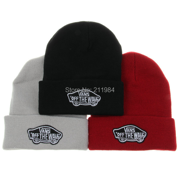 f309ab21ada8e7 Brand Winter Hat VANS OFF THE WALL Beanie Bone Knitted Hip Hop Men And  Women Gorros Wool Hat For Men Casual Caps