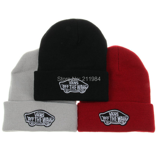 Brand Winter Hat VANS OFF THE WALL Beanie Bone Knitted Hip Hop Men And  Women Gorros Wool Hat For Men Casual Caps 1e42ffb85db