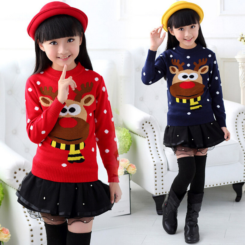 New 2016 Girl Children Knitted Autumn Winter Pullover Sweaters Thickened Leisure comfort and high quality Children Sweaters