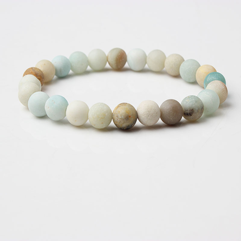 LIngXiang fashion Jewelry dull polish colorful <font><b>amazon</b></font> stone loose beads energy Bracelet be <font><b>fit</b></font> for Charms Men Yoga Women image