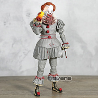 Stephen King's It 3D Version Pennywise PVC Action Figure Movable Model Horror Toy Figurine Collection