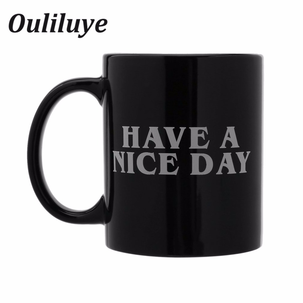 Creative Ceramic Mug Coffee Cup With Have a Nice Day Tea Milk Mug Middle Finger Funny Cup for Coffee Cups Fashion Novelty Gifts