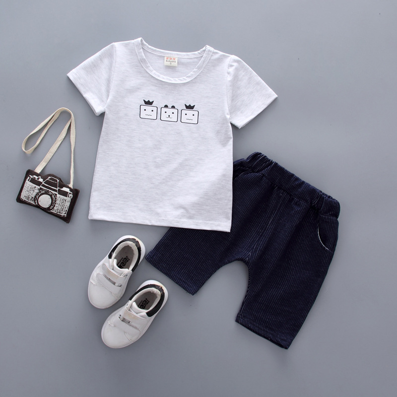 boys sets Summer 2018 Newborn Baby Boy Clothes Short Sleeve Cotton T-shirt Tops +Shorts 2PCS Outfit Toddler Kids Clothing Set