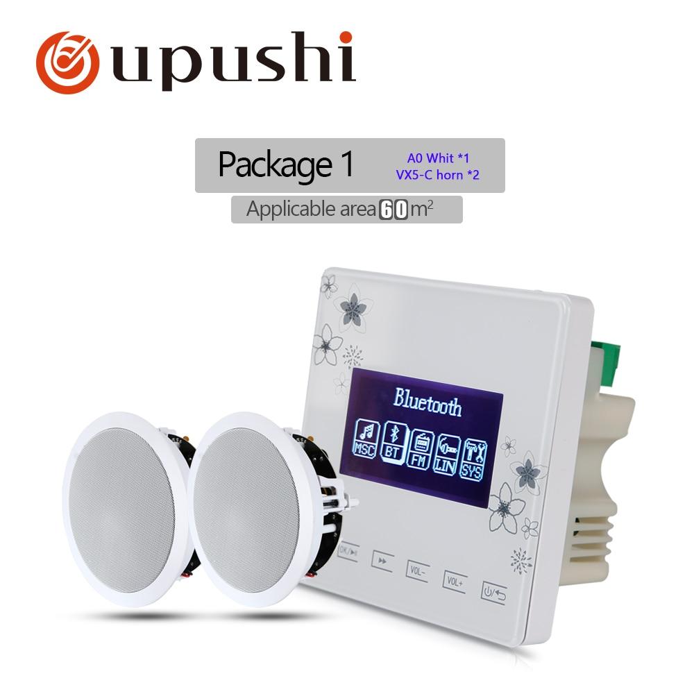 купить Oupushi Pack A0-VX5-C Ceiling Speaker PA System Bluetooth Music Player Digital Stereo Home Theater Amplifier по цене 12239.55 рублей