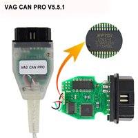 Vag canプロV5.5.1でftdi ft245rlチップvcp obd2診断インターフェースusbケーブルサポートcanバスuds kラインのために働くアウディ/vw