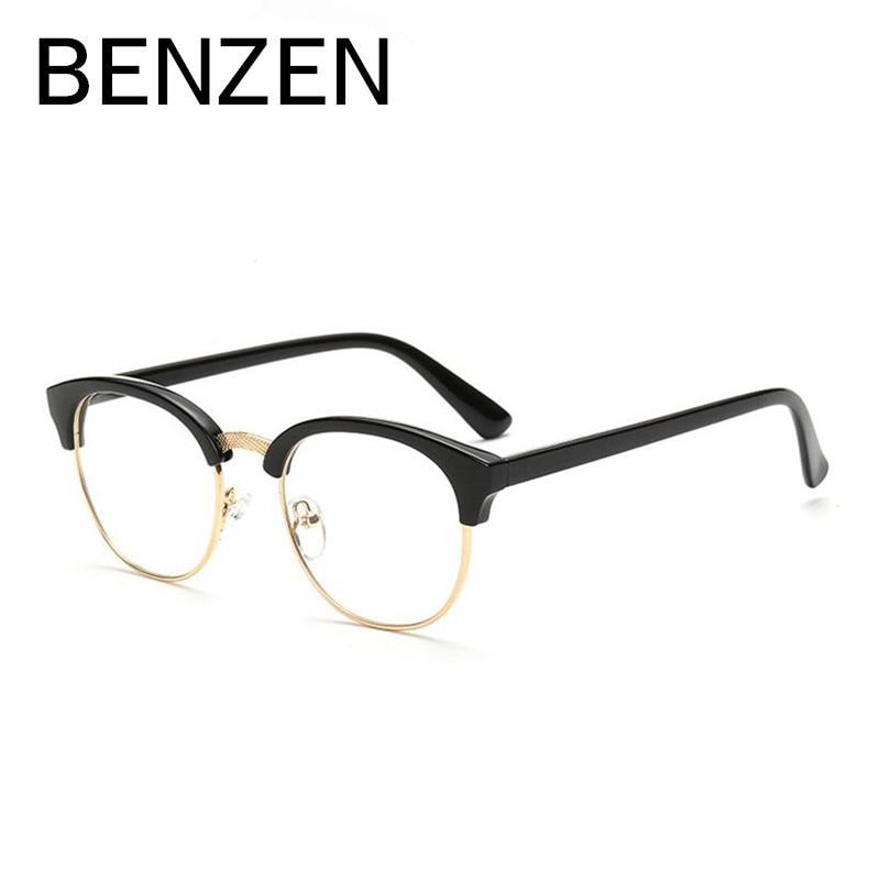 BENZEN Vintage Runde Brillen Rahmen Frauen Anti Blau Rays Computer ...