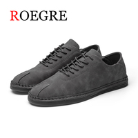 ROEGRE Brand British Style Full Grain Leather Men Carving Oxford Shoes Vintage Design Men Brogue Business