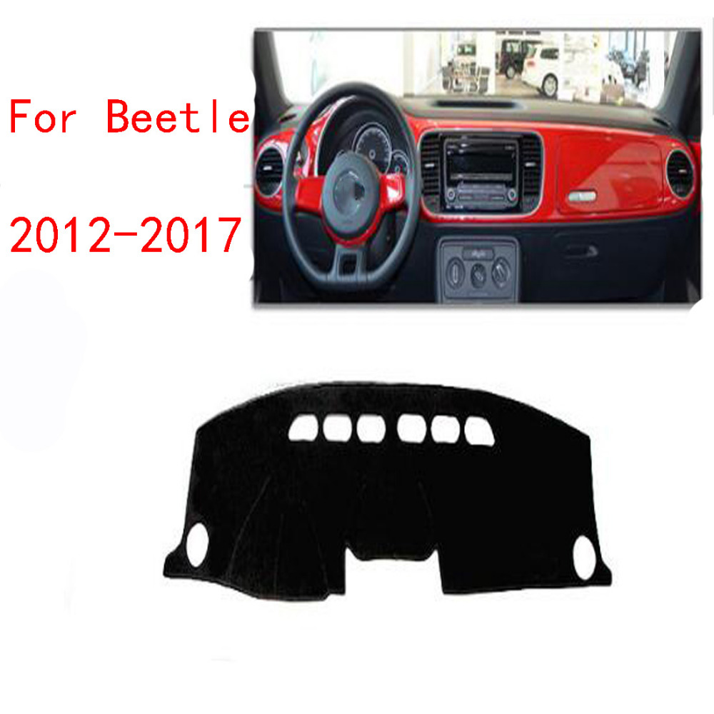 Dongzhen Car Dashboard Cover Mat Avoid Light Pad Instrument Platform Desk Cover Mats Carpets For VW Beetle 2012 to 2017