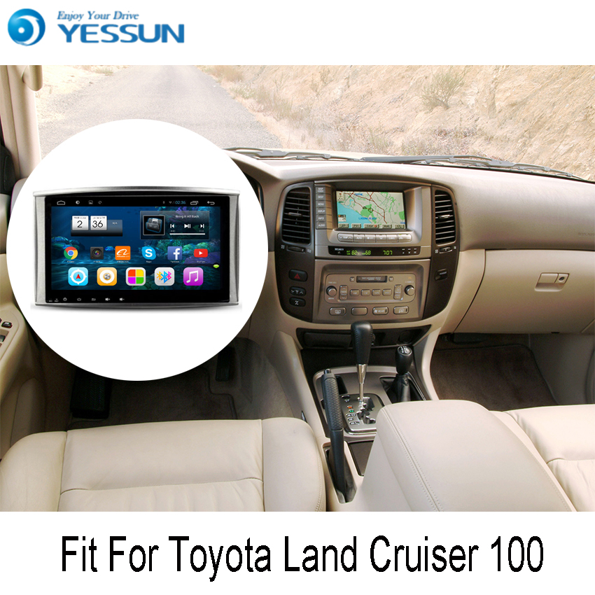 YESSUN For Toyota Land Cruiser 100 Android Car GPS Navigation DVD player Multimedia Audio Video Radio Multi-Touch Screen yessun for mazda cx 5 2017 2018 android car navigation gps hd touch screen audio video radio stereo multimedia player no cd dvd