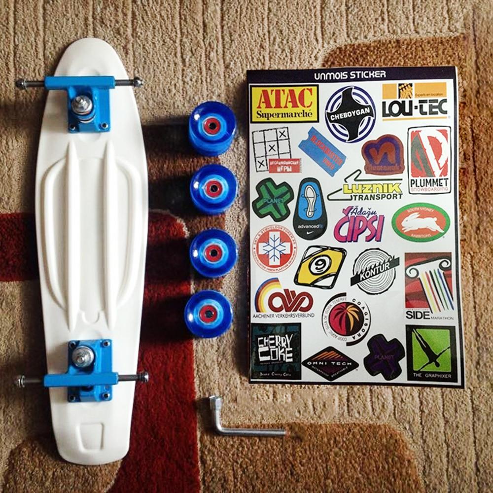 New 2019 Patins Street Skateboard Four Wheel Longboard Banana Fish Skate Board Mini Cruiser Long Skateboard Peny Boards For Sale
