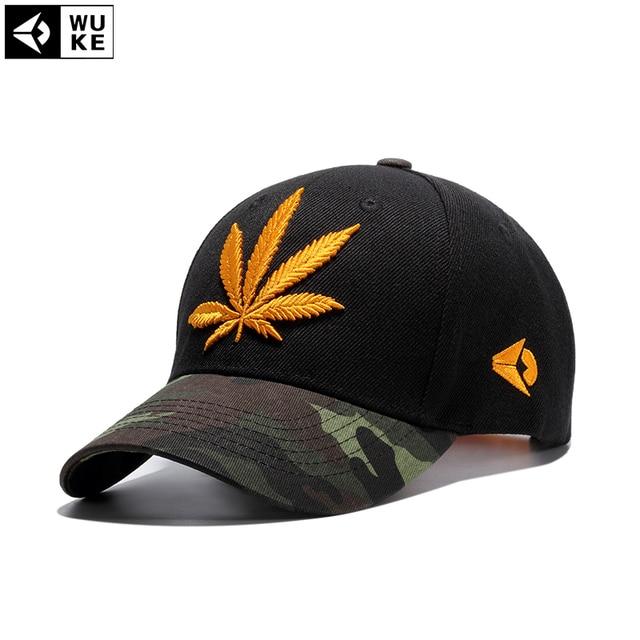 1227cde1cfc Wuke Fashion Weed Caps Hats Camouflage Baseball Cap Men Women Bone Gorras  Homme Casquette Weed Leaf