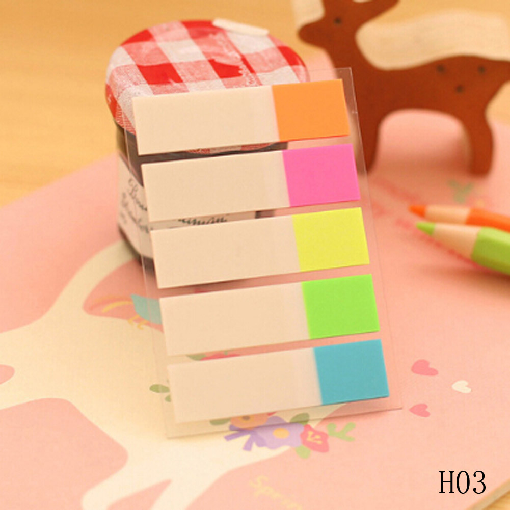 1 Lot Fluorescent color Pages Sticker Post Bookmark Point Memo Pad Paper Office Stationery Sticky Notes