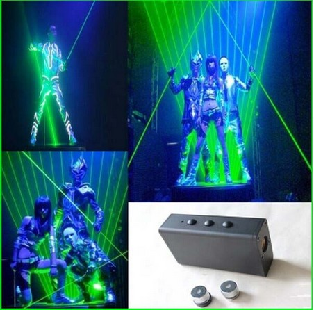200mw(100mwx2) 532nm handheld double green laser sword for laser man and laser show CLUB party with palm light free shipping