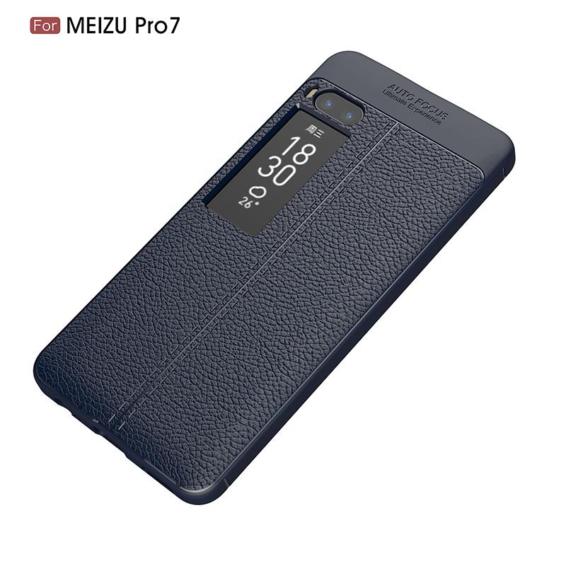 Litchi leather silicone case Meizu Pro 7 (17)