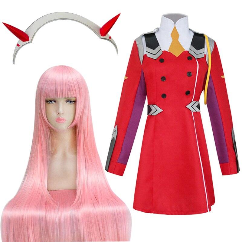 Darling in the Franxx ZERO TWO CODE:002 Cosplay Costume Women Cosplay Wig Full Set