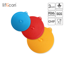 Liflicon 3pcs Silicone Suction Lids Glass Universal Pan Bowl Cooking Pot Stretch Food Stopper Covers