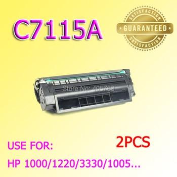wholesale 2pcs 7115A Toner cartridge compatible for HP1000/1220/3330/3300/1005 C7115A toners ++