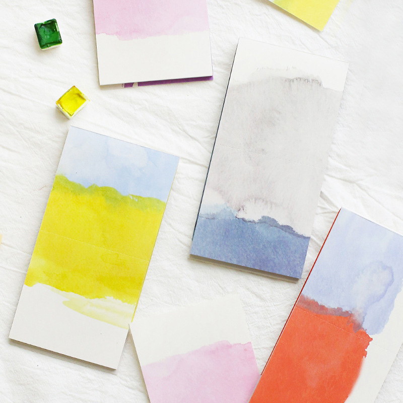Cute Kawaii Natural Watercolor Sticky Note Memo Pad Post It Note Office Planner Sticker Paper Korean Stationery School Supplies