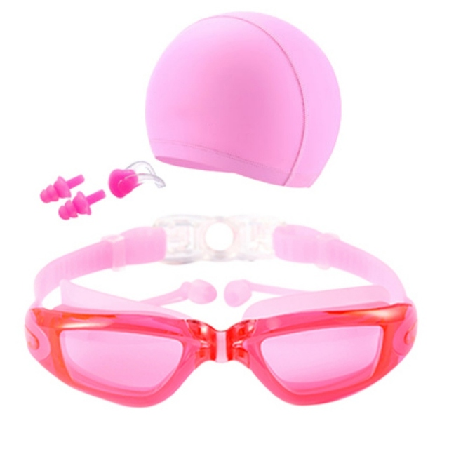 high definition swiming goggles set waterproof anti fog swimming