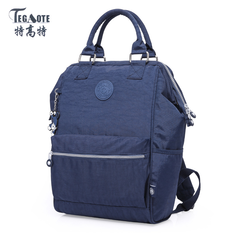 TEGAOTE 2017 School Backpack for Teenage Girl Mochila Feminina Backpacks Nylon Waterproof Casual Women Laptop Bagpack tegaote nylon waterproof school backpack for girls feminina mochila mujer backpack female casual multifunction women laptop bag