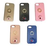 Dễ thương Ảnh Tự Sướng LED Flash Light Phone Case Cho iPhone 6 6 s 7 7 Cộng Với 6 6 Cộng Với Nụ Cười Luminous Cứng Back Cover v