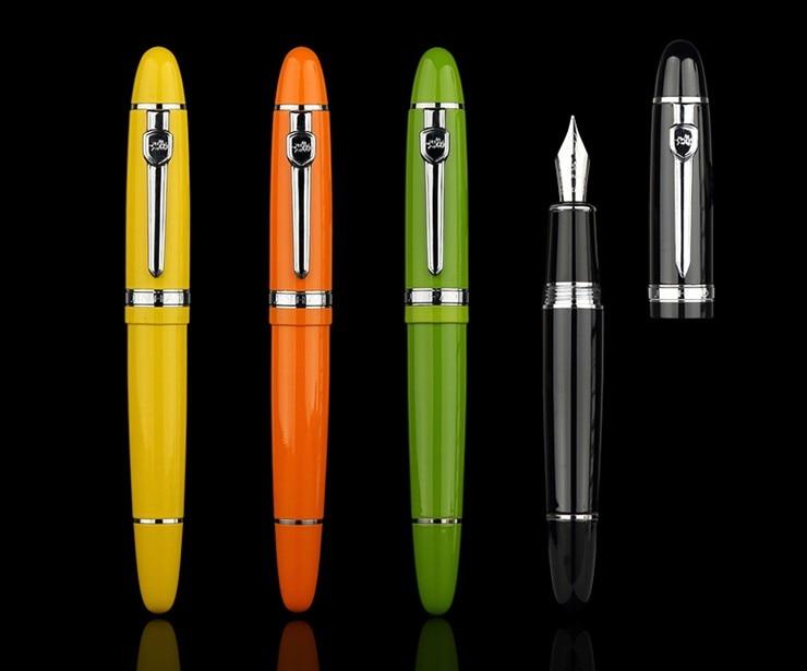 JINHAO 159 Black Business Office Medium Nib Fountain Pen New