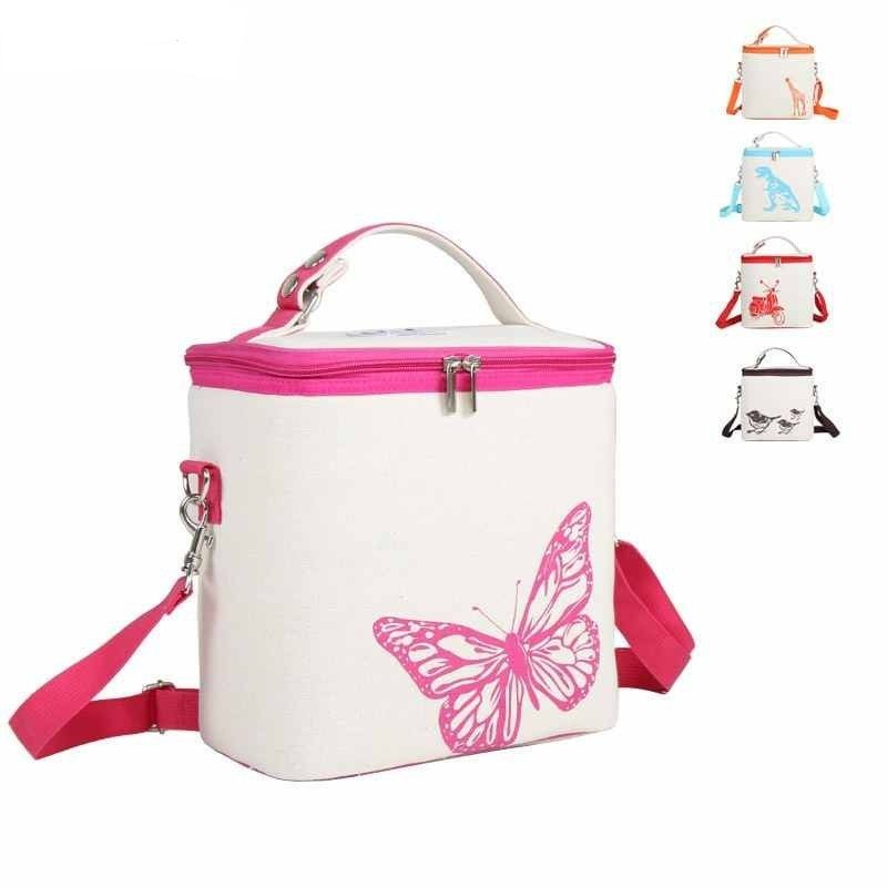 LHLYSGS Brand Women Portable Waterproof Insulated Lunch Bag Hand Carry Thickened Cooler Bag Food Insulation Picnic lunch box Bag