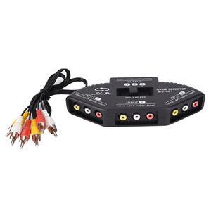 Image 1 - Tonbux 3 Way الصوت والفيديو AV RCA الخائن الأسود التبديل محدد صندوق الخائن مع/3 كابل RCA
