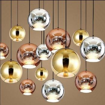 Nordic electroplating Glass Ball Balcony Pendant Lamp Bedroom Pendant Light Dining Room Restaurant Pendant Lighting fixture