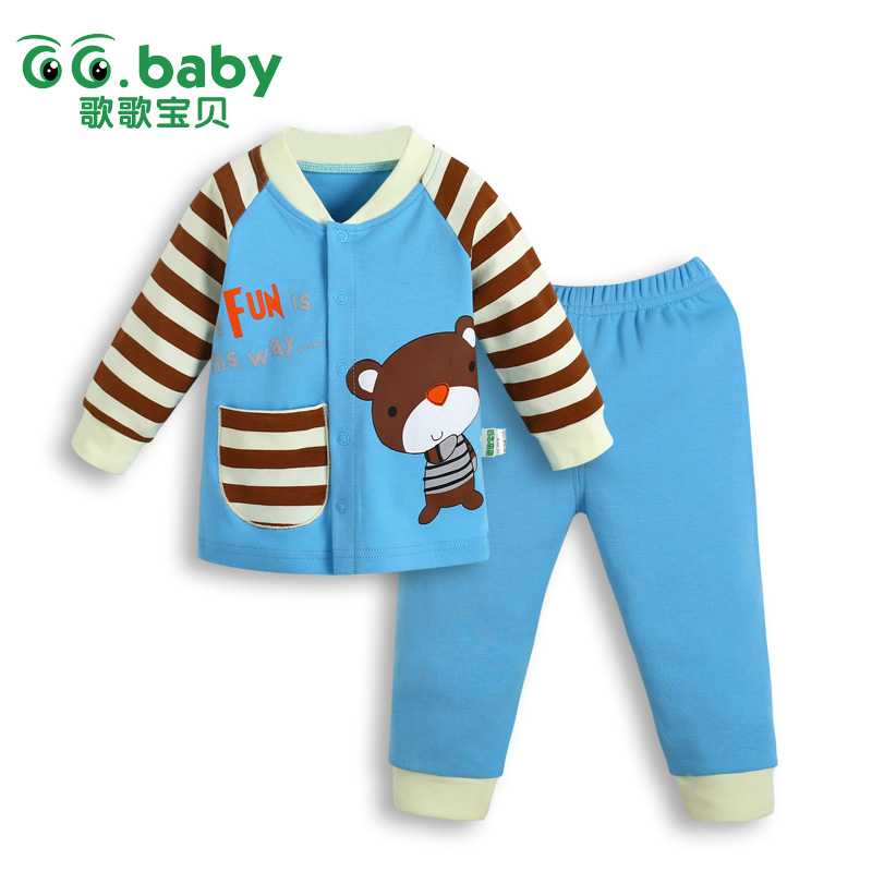 NewbornBaby  Bear Boy Clothing Set Autumn Winter Long Sleeve Toddler Suits Baby Sets For Girl Clothes Sets Suit Baby Boy Outfits 2017 new style spring autumn hoodie baby girl clothing set sequin lace long sleeve velour sports jacket long trousers outfits