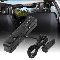 2pcs Car Back Seat Headrest Mount 3 Port 5V 3A USB Charger + Cigarette Lighter