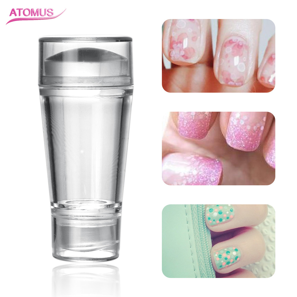Nail Art Templates Fashion Style Romatpretty 2pcs Clear Transparent Silicone Jelly Stamper With Cap Nail Art Stamper+scraper Nail Stamping Seal Diy Polish Tools Nails Art & Tools