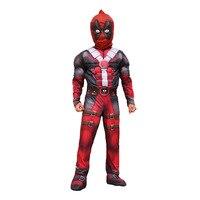 2019 X men Cosplay Marvel Superman X men Deadpool Cosplay Costume Jumpsuit Uniform For Children Boys Halloween Carnival Costumes