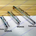 Hole CC 64mm/96mm/160mm Zinc Alloy handle modern handle Kitchen Furniture Handle  bedroom drawer handle silver side